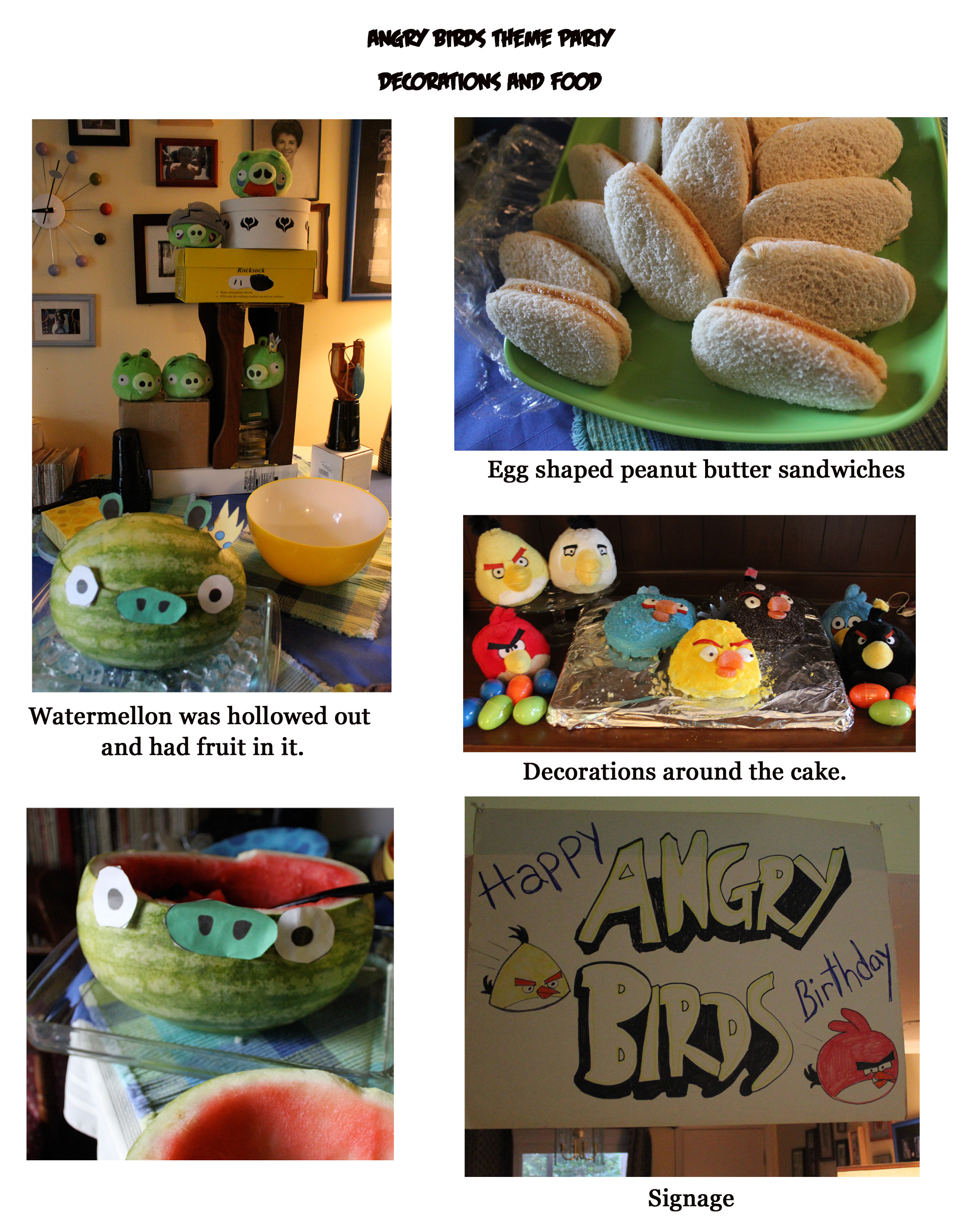 Angry birds party on pinterest angry birds angry birds for Angry birds birthday party decoration ideas