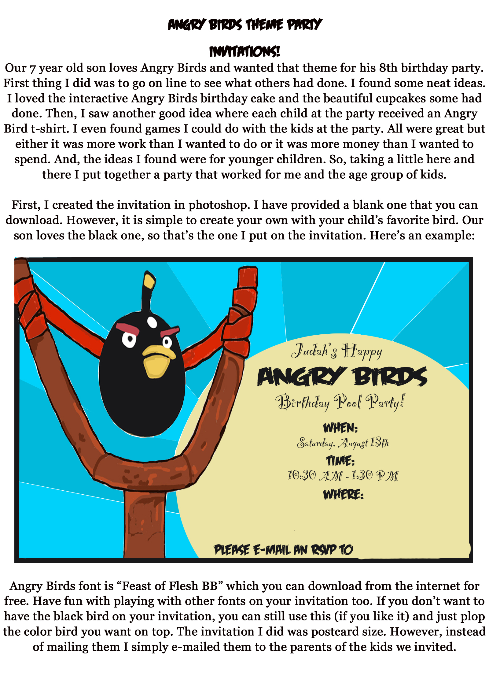 Angry Birds party decorations and food | bashert04