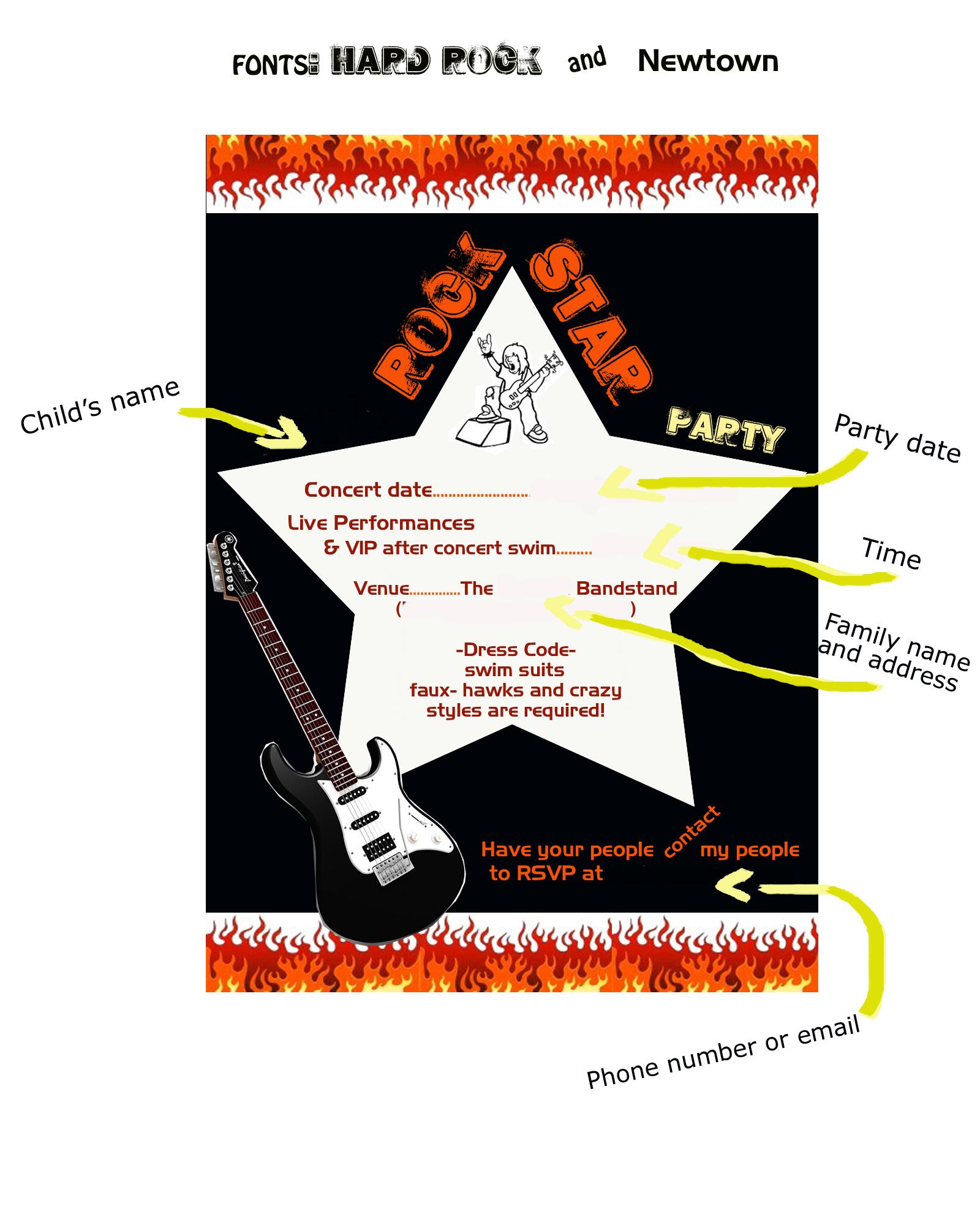 ROCK STAR BIRTHDAY PARTY | bashert04